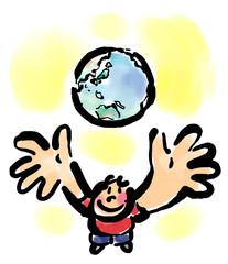 地球を仰ぐ