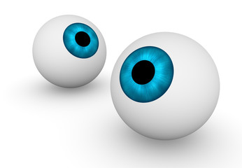 Two eyeballs