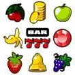 Various slot machine icons vector