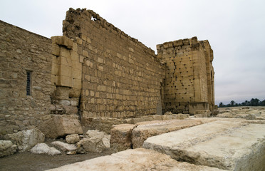 Arab fortification at the Sanctuary of Bel at Palmyra