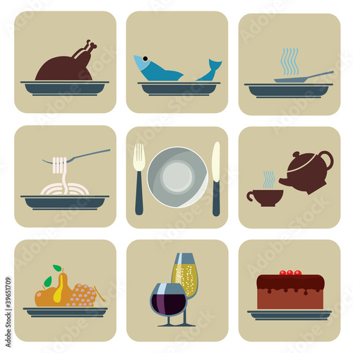 Foods and Beverages Icons