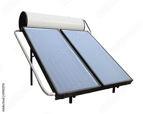 isolated solar heater system with collectors