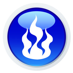 Ícone com a silhueta de uma chama