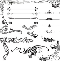 Art Nouveau corners and dividers