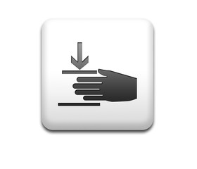 Boton cuadrado blanco simbolo aplastar mano