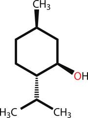Menthol structural formula