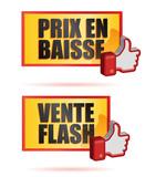panneaux promo : prix en baisse, vente flash