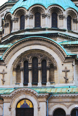 Detail of the St. Alexander Nevsky Cathedral, a Bulgarian