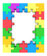 Colored puzzle frame.