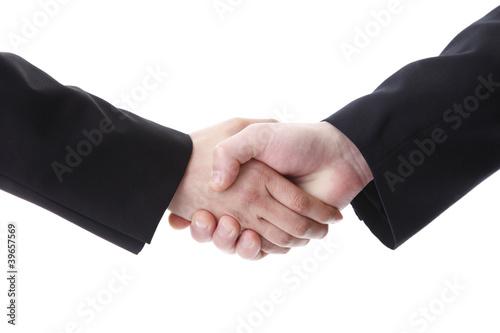 握手の二人