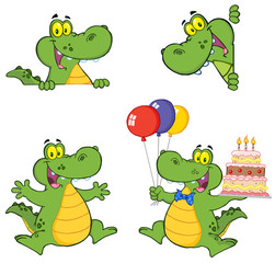 Crocodile Cartoon Characters