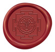Shree Yantra Sign Wax Seal