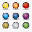 Button set silber gfx kugel globus icon farben kreis aqua shine