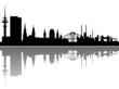 Hamburg Skyline Spiegelung Vektor