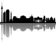Berlin Skyline Spiegelung Vektor