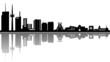 Essen Skyline Spiegelung Vektor