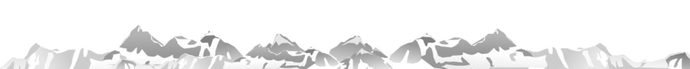 Bergpanorama isoliert Vektor