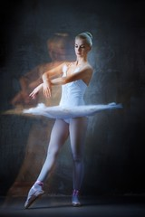Beautiful ballet dancer in motion..