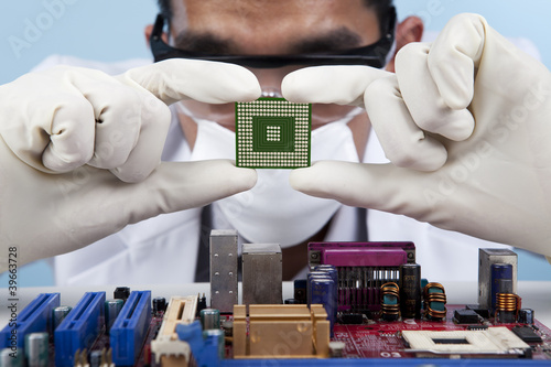 Checking the computer chip