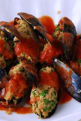 Stuffed mussels Cozze ripiene Moules farcies