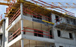 immeuble logements en construction chantier