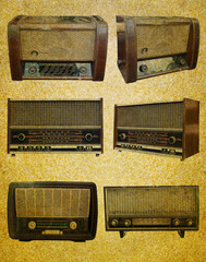 Radio retro set