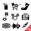Car part icon set 10