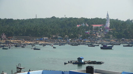 Harbor at fishing village