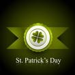 saint patrick's day new stamp label