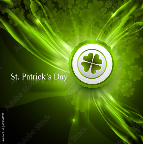 saint patrick's day shiny green colorful