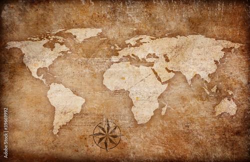 tlo-grunge-mapa-swiata-z-kompasem-roz