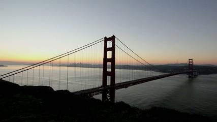 Sunrise Timelapse over Golden Gate Bridge in San Francisco