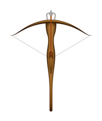 Wooden crossbow and arrow