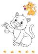 animali da colorare, gatto