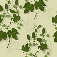 Floral hop seamless pattern