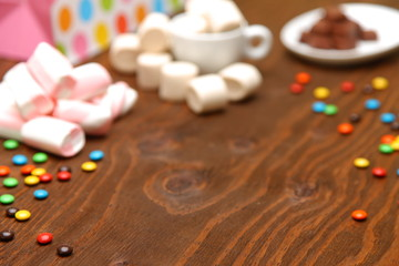 sweets composition background