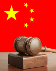 Gavel  and Flag of China