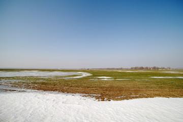 Frozen land.