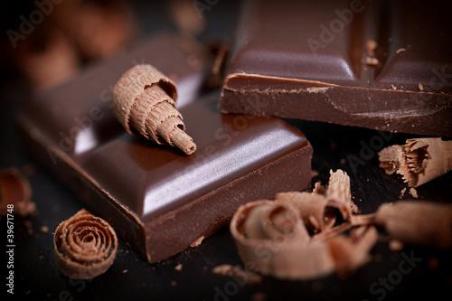 Fotobehang Snoepjes zart bittere Schokolade