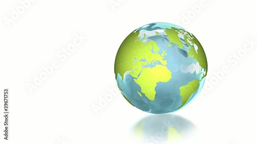 earth with white background