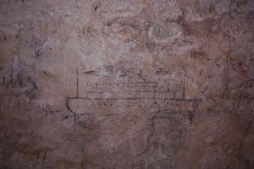 Prisoner drawings in Fort Fleur d'Epee