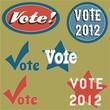 Vintage Americana voting badge set