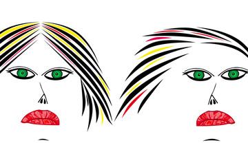 Femmes -Beauté - Charme - Yeux verts maquillés