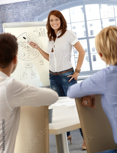 Businesswoman doing presentation