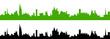 Skyline Stadt in grün und schwarz