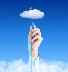 Connecting To Cloud Concept