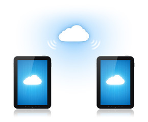 Cloud Computing Communication Concept