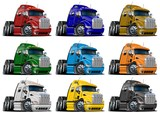 Cartoon trucks set