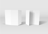 Blank white booklet vector template poster