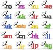 20 Toplevel Domains mit Pfeil